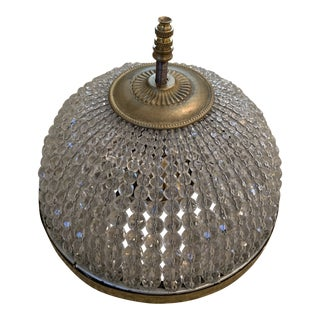French Crystal Beaded Dome Ceiling Chandelier For Sale