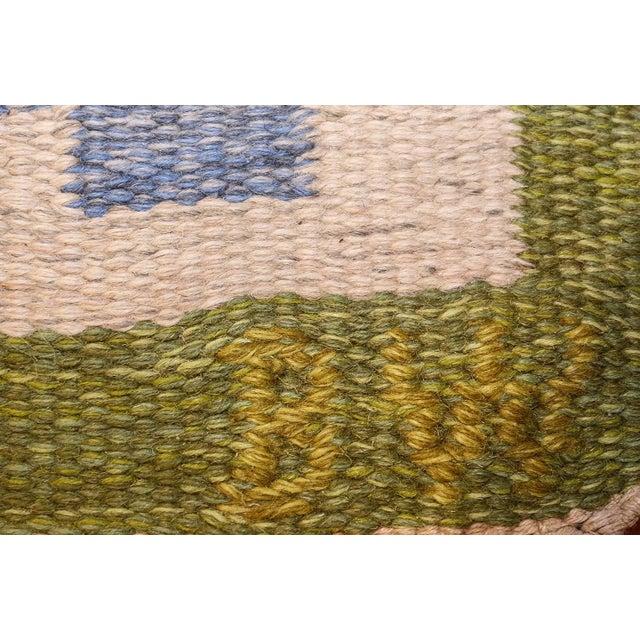 Vintage Swedish Kilim Rug by Berit Woelfer - 6′6″ × 9′2″ For Sale In New York - Image 6 of 7