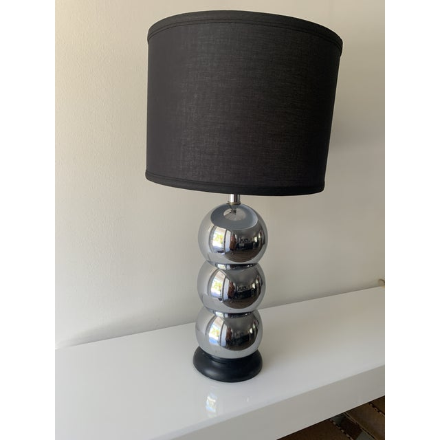Chrome 1970s Silver Chrome Stacking Ball Table Lamp in the Manner of George Kovacs For Sale - Image 8 of 11