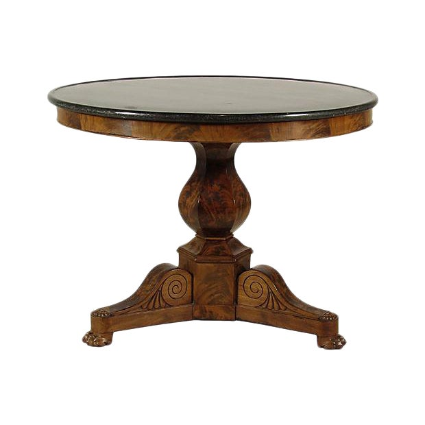 19th Century Louis Philippe Marble Center Table - Image 1 of 6