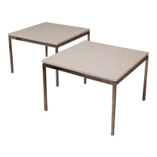 1960s Mid-Century Modern Florence Knoll End Tables - a Pair For Sale