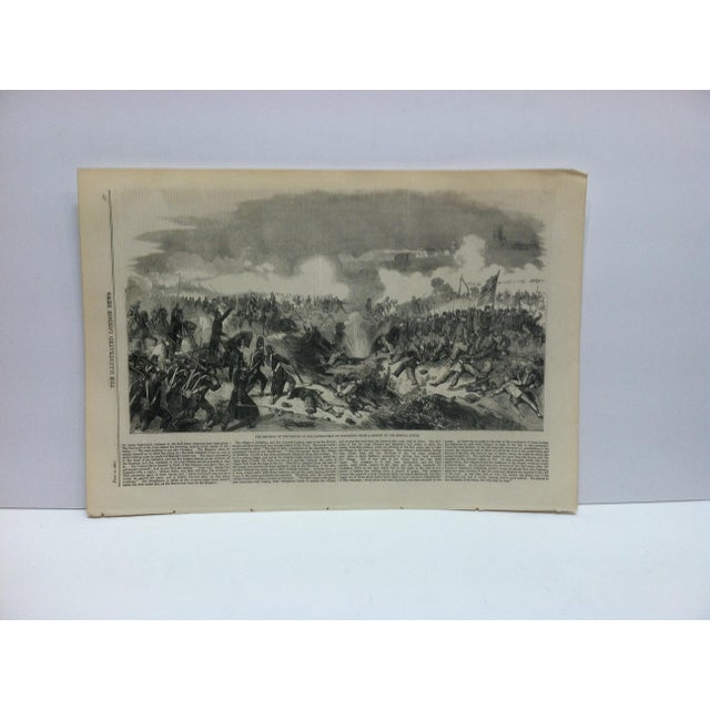 """Mid 19th Century 1859 Antique """"The Emperor of the French on the Battle-Field of Solferino"""" The Illustrated London News Print For Sale - Image 5 of 5"""