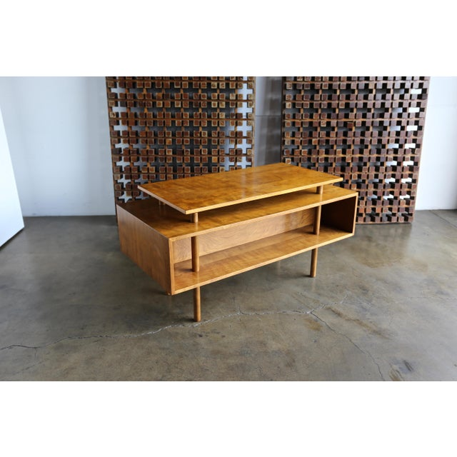 Walnut Desk by Milo Baughman for Glenn of California For Sale - Image 11 of 13