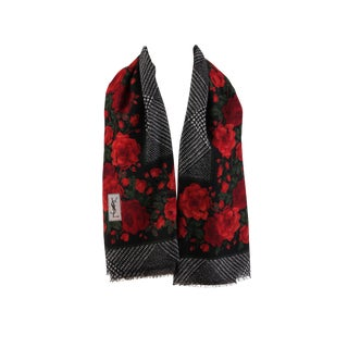 Vintage Yves St. Laurent Over-Sized Wool Scarf For Sale
