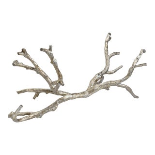 Metal Branch in Ambered Silver For Sale