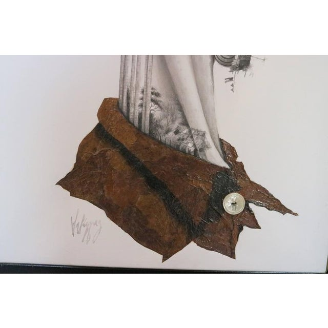 Contemporary Organic Modern Surrealist Collage For Sale - Image 3 of 7
