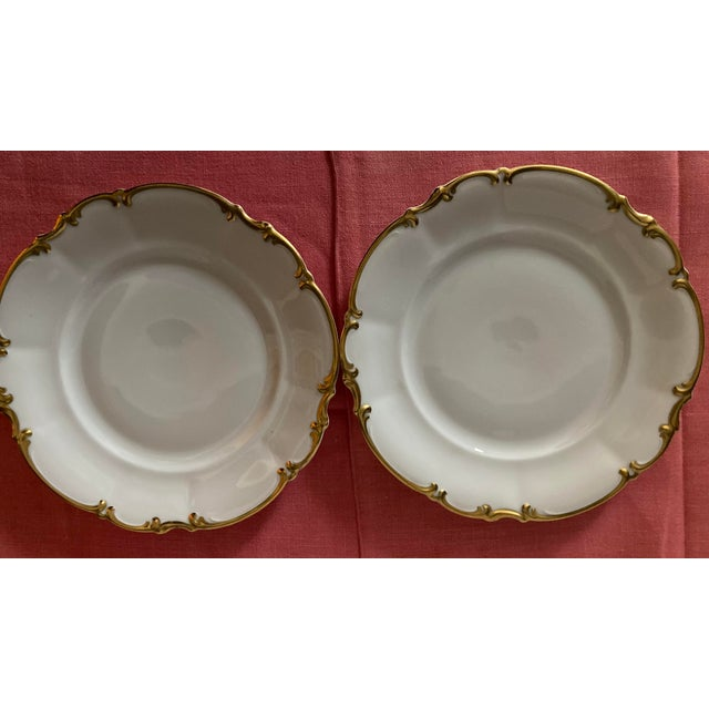 Hutschenreuther China Vintage 1960s Hutschenreuther Bavaria Germany Pasco Salad Plates - Set of 7 For Sale - Image 4 of 10