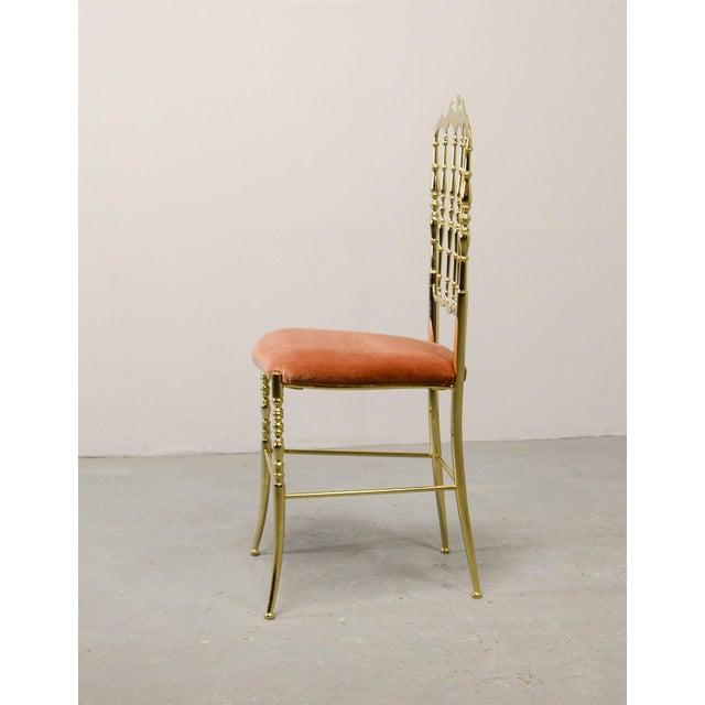 Italian Mid-Century Italian Design Side Chair by Giuseppe Gaetano Descalzi for Chiavari, Italy, 1950s For Sale - Image 3 of 11