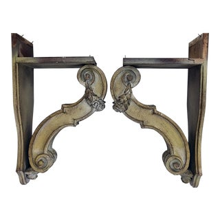1950's Vintage Corbels - A Pair For Sale
