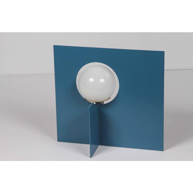 2010s Paul Marra Steel Intersection Table Lamp For Sale - Image 5 of 6