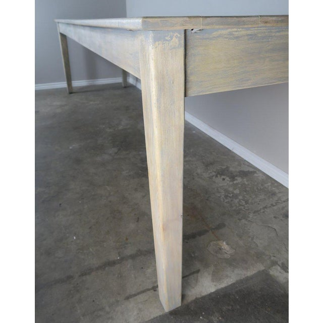 White Swedish Painted Farm Table, Circa 1900 For Sale - Image 8 of 11