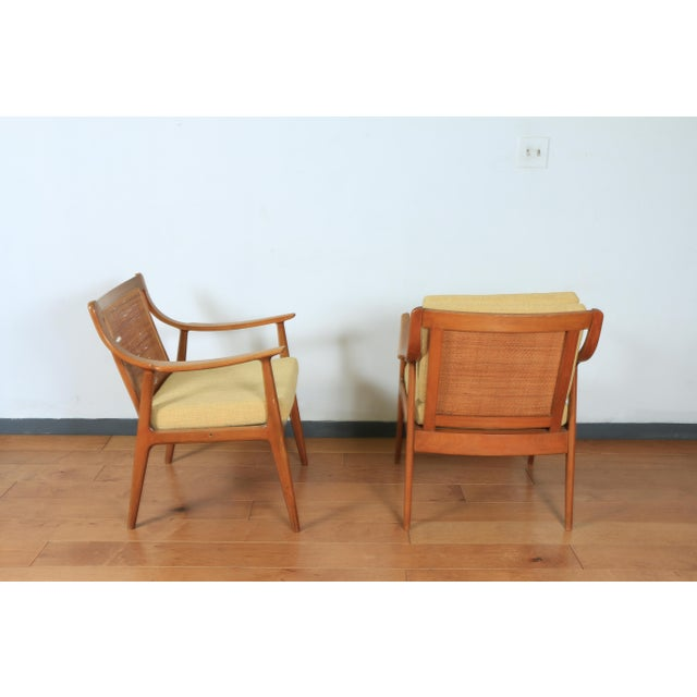 1960s Yugoslavia Yellow Side Chairs For Sale - Image 4 of 8