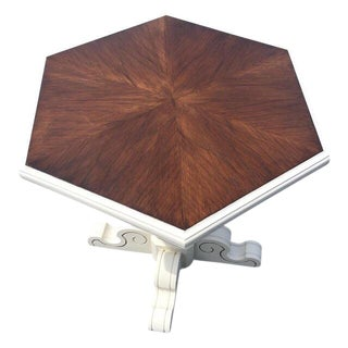 Scroll Pedestal Accent Table For Sale