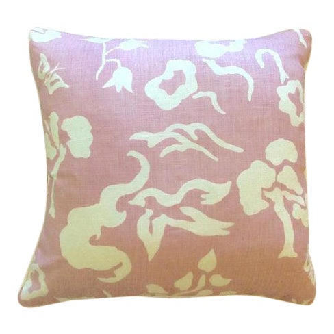 "2010s Victoria Hagan ""Early Spring"" Lilac Pillows - a Pair For Sale - Image 5 of 5"