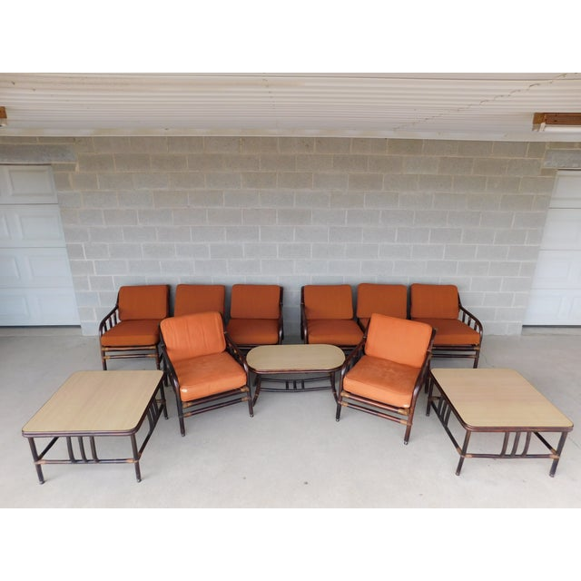 Ficks Reed Vintage Mid Century Rattan 11pc Patio Set For Sale - Image 13 of 13