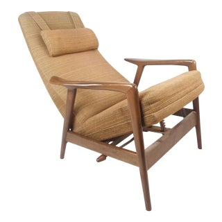 Mid-Century Modern Folke Ohlsson DUX Reclining Lounge Chair For Sale