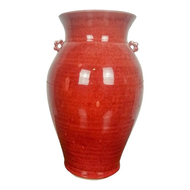 Large Red Studio Pottery Vase Signed Stuart Chairish