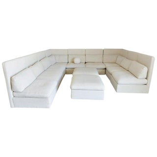 1976 Milo Baughman for Thayer Coggin Sectional High Back Sofa - 11 Pc. For Sale