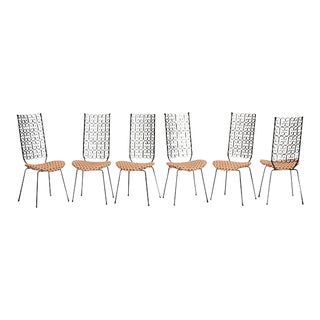 Arthur Umanoff for Boyuer Scott/Shaver Howard, Grenada Collection Dining Chairs - Set of 6 For Sale