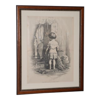 "1880s ""Santa Can't Say"" Illustration by Thomas Nast for Harper's Weekly For Sale"