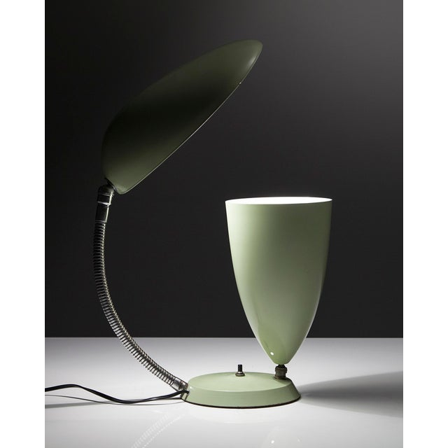"""Mid-Century Modern Table lamp with one cone shade and one """"Cobra"""" shade For Sale - Image 3 of 5"""