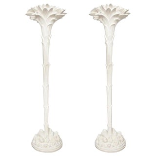 Pair of Custom Plaster Torchieres - For Sale
