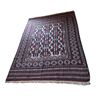 "Vintage Traditional Pattern Rug - 6'3"" x 8'11"" For Sale"