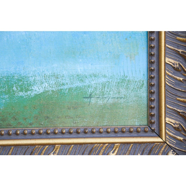 Mid-Century Abstract Oil Painting For Sale - Image 4 of 8