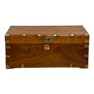 19th Century Antique Chinese Export Trunk For Sale
