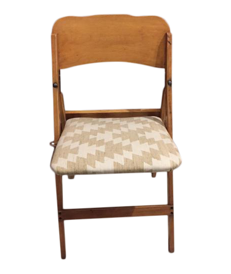 High Quality Vintage Upholstered Wooden Folding Chair
