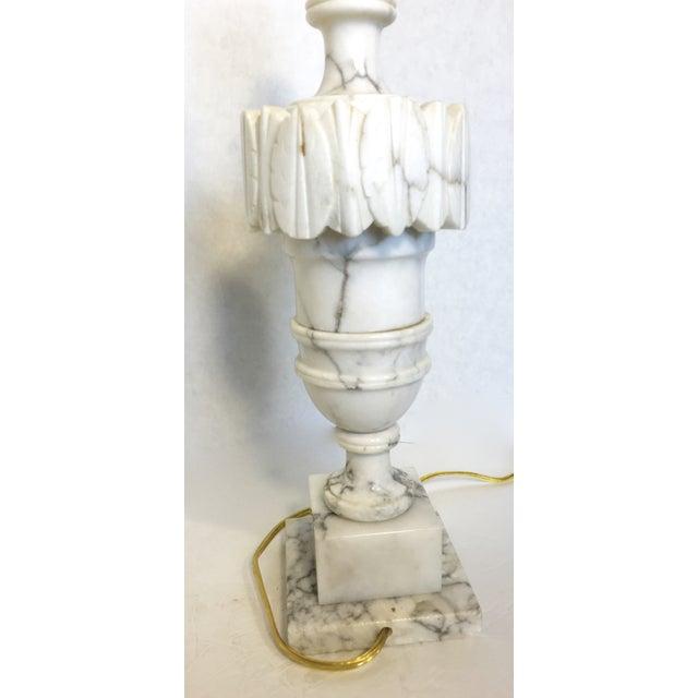 Vintage Alabaster Carved Urn Lamps - A Pair - Image 5 of 6