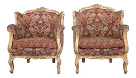 Image of Gold Leaf Club Chairs