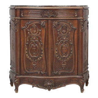 Antique Carved Italian Dessert Buffet For Sale