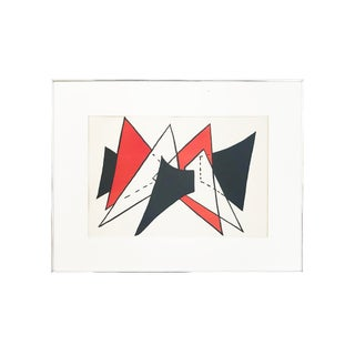 "Abstract Alexander Calder ""Stabile Ii"" Lithograph for Dèrriere Le Miroir 1976 For Sale"
