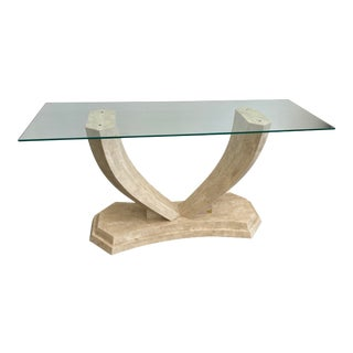 Casa Bique Tessellated Stone Console Table For Sale