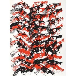 """Arman, """"Bloody Guns,"""" Serigraph"""
