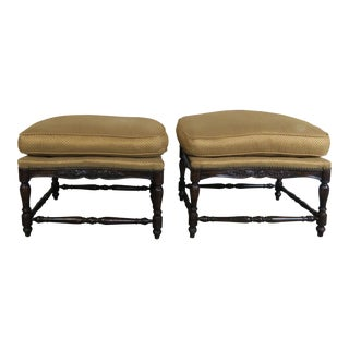 Pair of French Country Style Ottomans C. 1900's For Sale