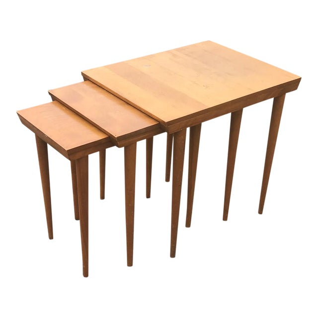 MCM Russell Wright for Conant Ball Nesting Tables - Set of 3 For Sale