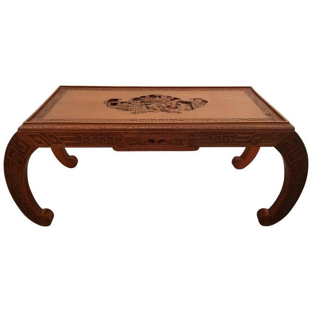 Carved Chinese Coffee Table For Sale - Image 10 of 10