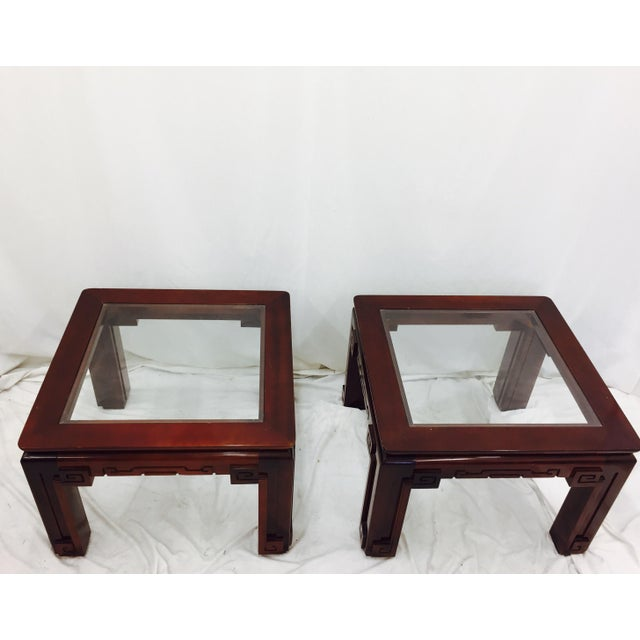 Vintage Asian Ming Style Side Tables - A Pair For Sale - Image 9 of 10
