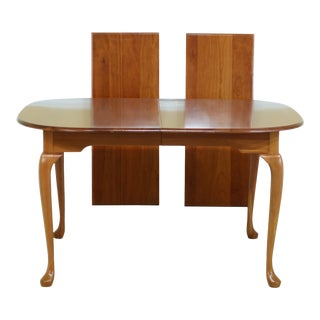 F49613ec: Harden Queen Anne Solid Cherry Dining Table For Sale