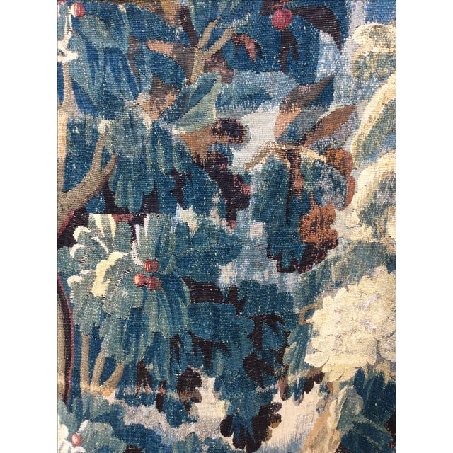 19th C. French Verdure Tapestry - Image 3 of 5