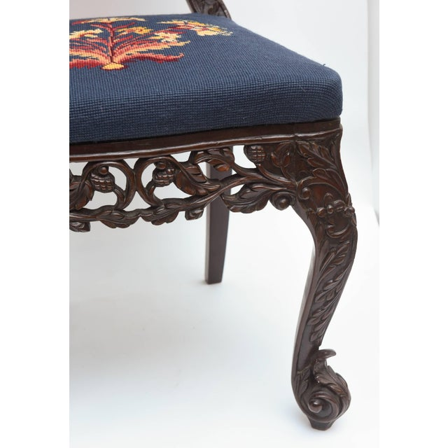 Late 19th Century Superb Set of Four 19th Century Anglo-Indian Side Chairs For Sale - Image 5 of 11