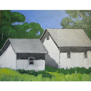 Salinas Barns California Farm Plein Air Landscape Oil Painting Lynne French Art For Sale