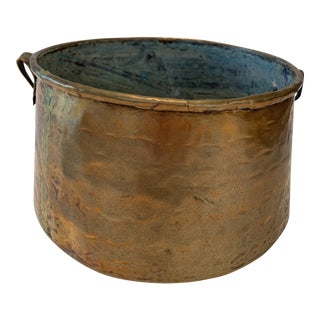 Antique Hand Hammered Copper Pot For Sale