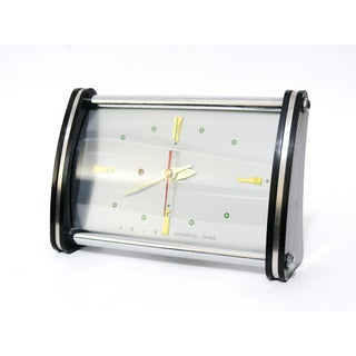 Vintage Shanghai China Diamond Space Age Alarm Clock Preview