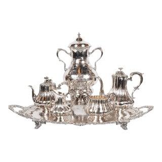 Elegant Neoclassical Silverplated Coffee/Tea Service by Elkington & Co.