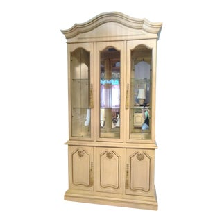 Vintage French Provincial Curio Cabinet For Sale