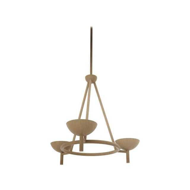 Contemporary 200 Chandelier in Brushed Brass by Orphan Work, 2020 For Sale In New York - Image 6 of 6