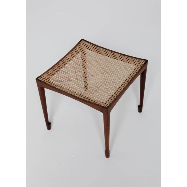 Mid 20th Century Rare Bernt Petersen Rosewood Stool, 1960s, Denmark For Sale - Image 5 of 8